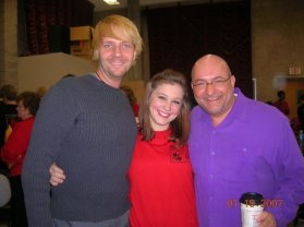 Shawn, me, and Jessica Johnson before the show.