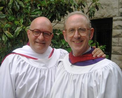 With Canon Musician John Schaefer, one of my dearest friends, at the Cathedral.