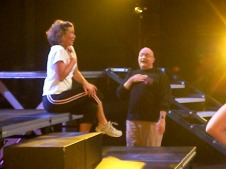 Meghan Reiser and Jeffrey Carter rehearse for Spectacular 2008.