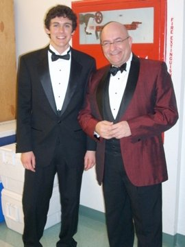 Trevor Junga and JC before Saturday night's University Singers performance.