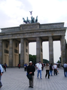 On the eastern side of the Brandenburg Gate.