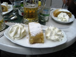 My only apple strudel of the trip, in Weimar.