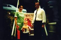 1966. My fifth birthday, celebrated at Ridgecrest, North Carolina at the Baptist conference center there. With me is my sister, Karen, and my parents. Beth has six months to go in Mom's tummy.