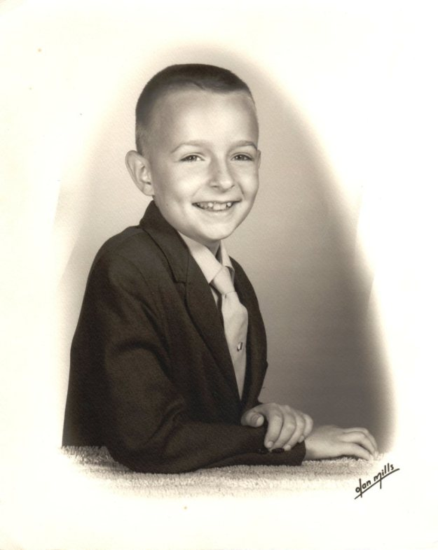 Early 1970, aged eight years.