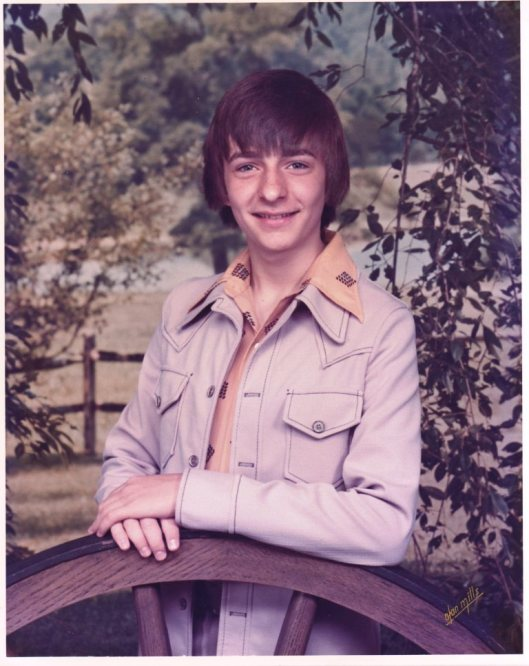 1976.  Early in sophomore year.  I loved this leisure suit.