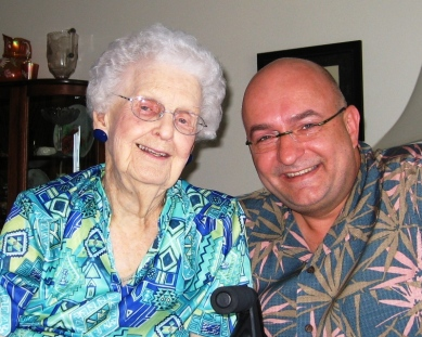 Me with my great-aunt Esther Gutshall Summers at 96.