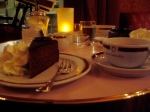 Sacher tort at the Sacher restaurant tonight.