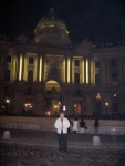 JC in front of the Hofburg Palace, Vienna.