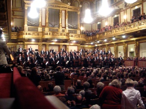 Gustavo Dudamel and the Gothenberg Symphony at the Musikverien.  I snuck my camera in so I could take just this picture.