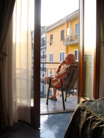 In Sorrento, looking at Pompeii
