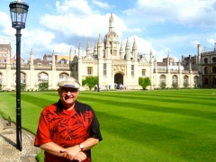 JC after Evensong at King's College Cambridge.
