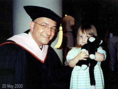 2000. A very young Anna at my doctoral hooding ceremony.