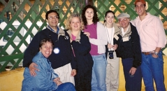 At a orange plantation for a traditional Brazilian luncheon, 2001.