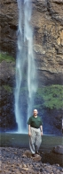 At a waterfall in the mountains outside of Sao Pedro, Brazil, 2001.