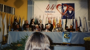 At the district Rotary convention in Aguas de Lindoia.
