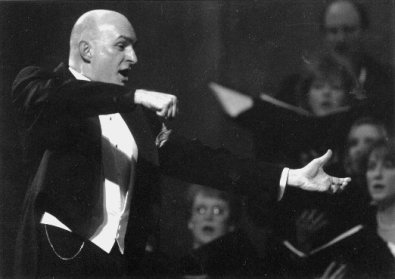 Conducting my final concert in Blue Springs, February 1999.