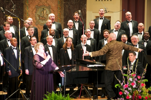 Conducting Christine Brewer in concert with the Gateway Men's Chorus, 2011.