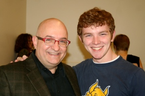 With my freshman student Jeff Allison at a 2011 master class.