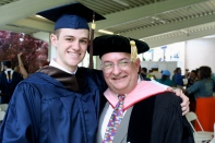 Commencement 2012 with Jared Lotz.