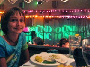 "Later that evening, Anna and I went to the New Dinner Theatre for ""The Sound of Music."""