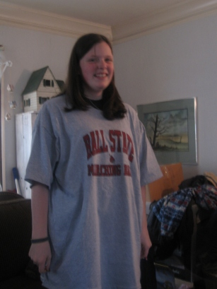 2006. Kristen now has a Ball State shirt too.