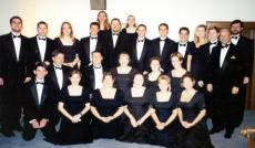 Before my final concert with the Kentucky Wesleyan Singers in Milwaukee, 2000.