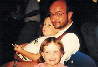 1995. JC with Karen's kids, Blayne and Kristen, at the Ringling Bros. circus at Kemper Arena.