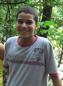 Luis at age 12, 2008.