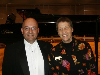 With composer Gwyneth Walker after premiering her newest choral work in November 2004.