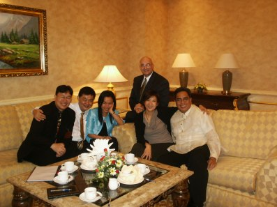 The adjudicators gather in Malaysia, 2003.