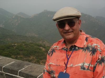 On the Great Wall of China.