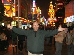 2005. On Nanjing Lu, the main shopping street, Shanghai.