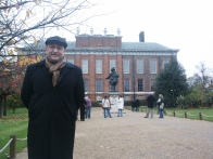2005. In front of Kensington Palace on a Thanksgiving Break trip to London.