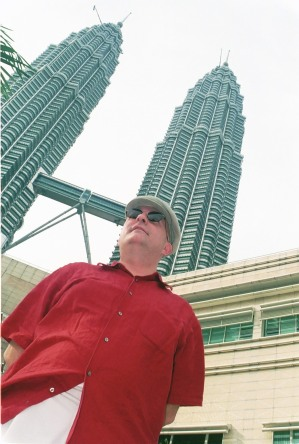 2003. At the foot of the Petronas Towers, Kuala Lumpur.