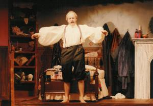 Redemption in the title role of Scrooge, 1988, at the Blue Springs City Theatre. Notice the mutton chops I wore for a month!
