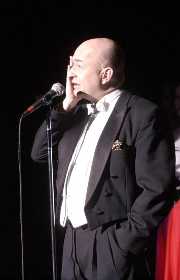 On stage at Ball State University Singers Spectacular, 2003.