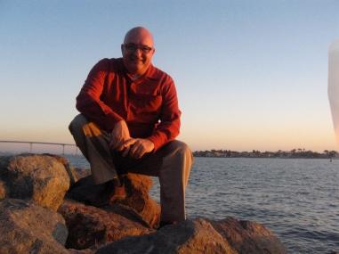 Self-portrait, San Diego Bay, 23 November 2009.
