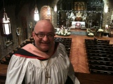 At Grace and Holy Trinity Cathedral prior to Christmas Eve service.