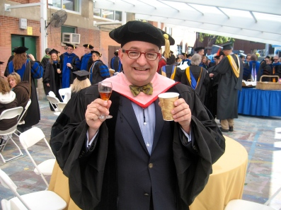 Before the ceremony, I picked up a cup of coffee, then saw the sherry. So I had both.
