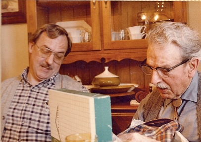 My father with his father, Pop Carter, 1984.