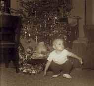 Jeff's second Christmas, 1962. Or perhaps third in 1963?