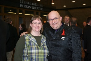 With my sister Beth after the show.