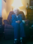 My 99-year-old great-aunt Esther.