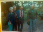 The Gutshall siblings sometime in the 1970's: (l-r) Esther, my grandmother Ruth, Clyde, Emery.