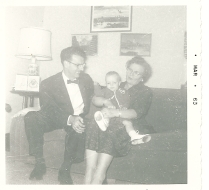 1963, with my paternal grandparents.