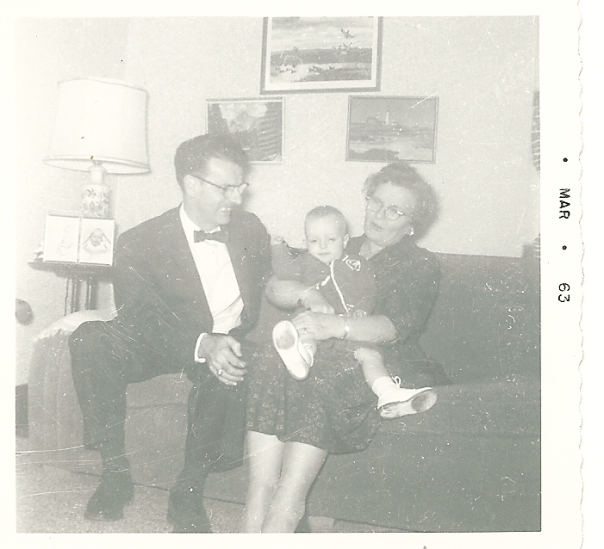 Me as a child with Pop and Grandma Carter.