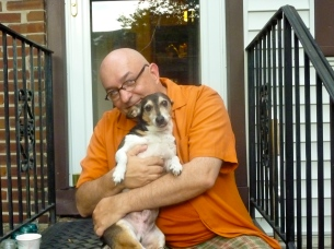 With Samson at home on Sunday 6/12/11.