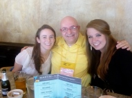 With two of the Webster students who worked the conference.