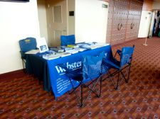 Our display for prospective students.