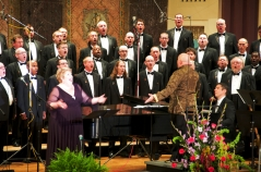 Leading Christine Brewer and the Gateway Men's Chorus, 2011.